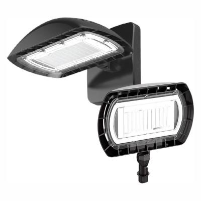 350-Watt Equivalent Integrated LED Flood Light with Wall Mount Kit, 5500 Lumens, Dusk to Dawn Outdoor Security Light