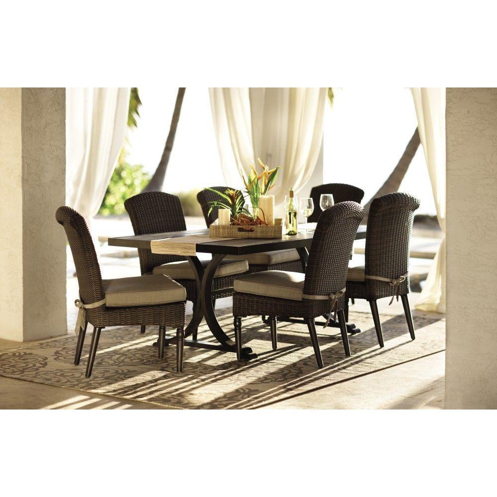 Home Decorators Collection Martingale Espresso Rectangular Patio Dining Table