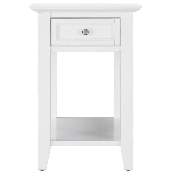 Charmant Harrison White Side Table