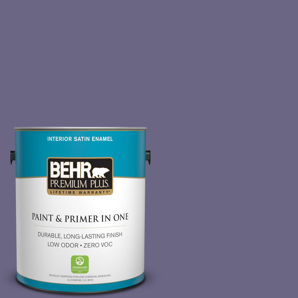 1 gal. #PPU16-18 Hyacinth Arbor Zero VOC Satin Enamel Interior Paint