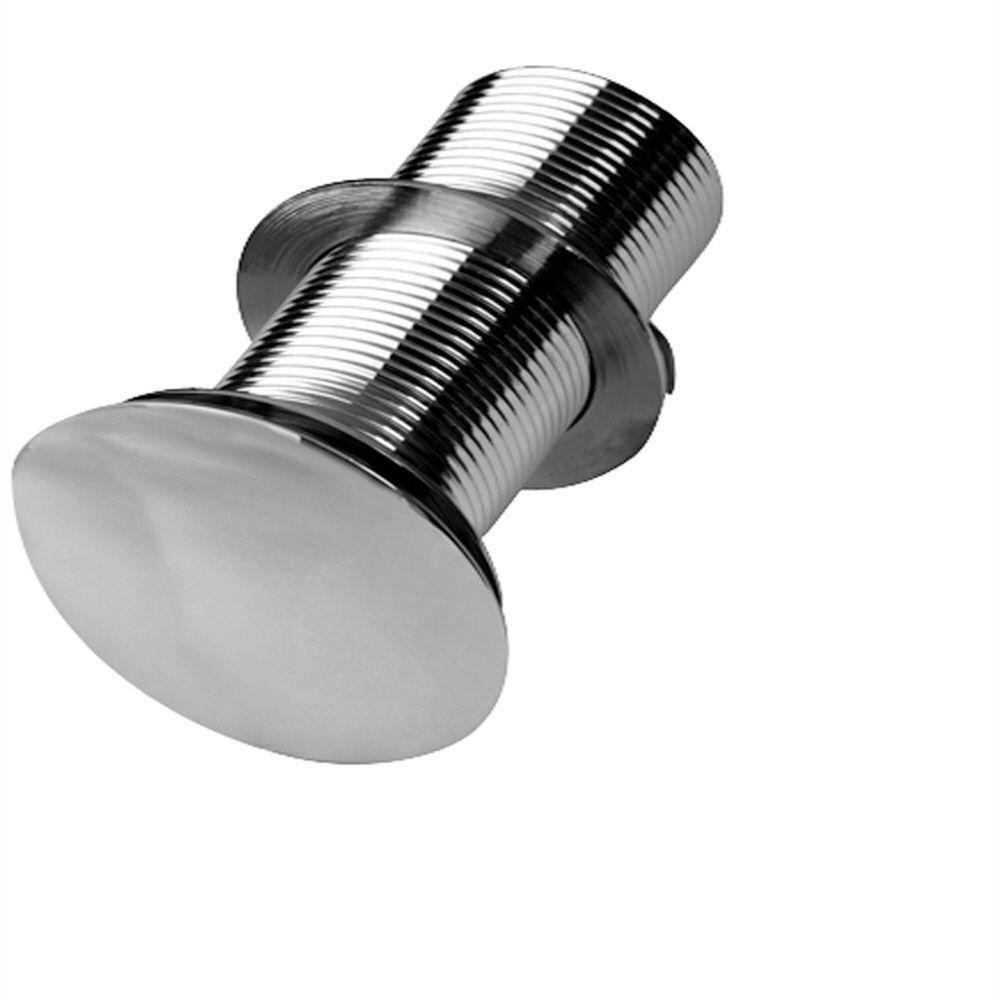 Pegasus Push-Button Pop-Up Umbrella Drain in Polished Chrome
