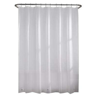 Lightweight PEVA 2.4 Gauge 72 in. Frosted Clear Shower Curtain Liner