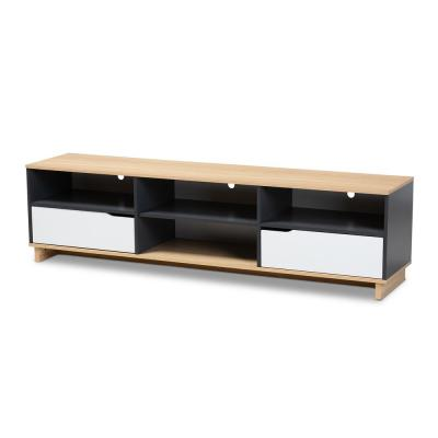 Reed Gray and Oak Modern TV Stand