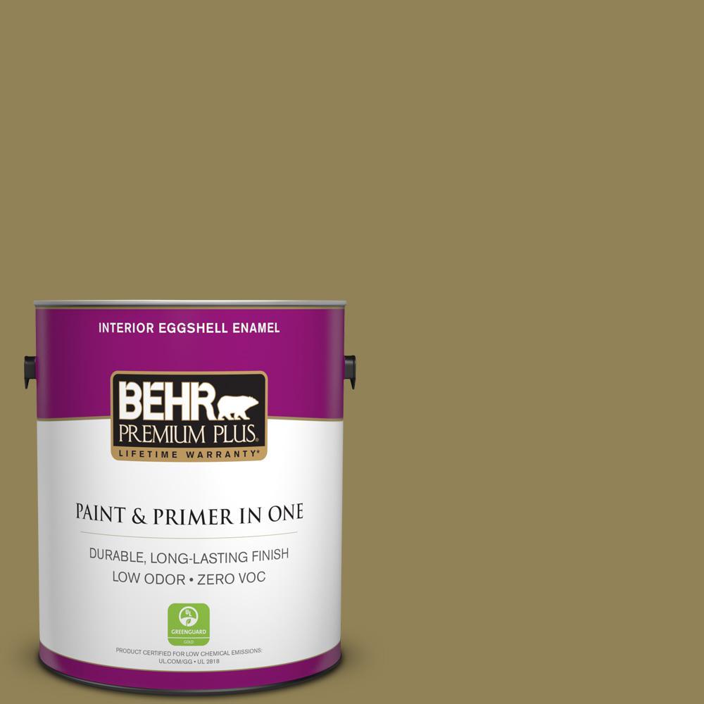 BEHR Premium Plus 1-gal. #S330-6 Dash of Oregano Eggshell Enamel Interior Paint