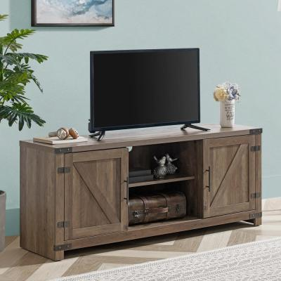 58 in. Walnut Autumn Driftwood TV Stand (Fits TVs up To 60 in.)