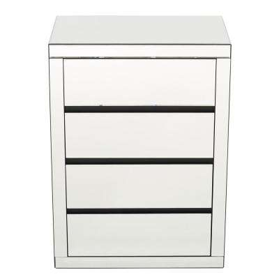 Milo 4-Drawer Mirrored Accent Chest