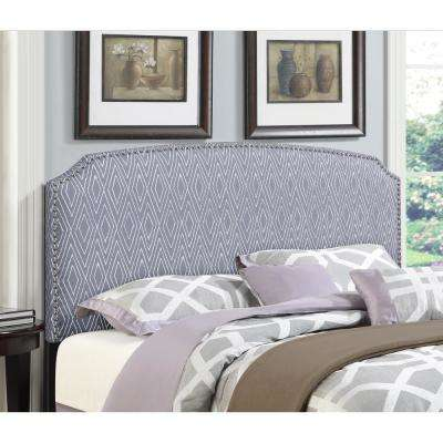 Simone Grey Full/Queen Patterned Upholstered Headboard