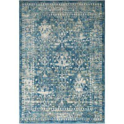 Tharunaya Teal 2 ft. x 3 ft. Area Rug