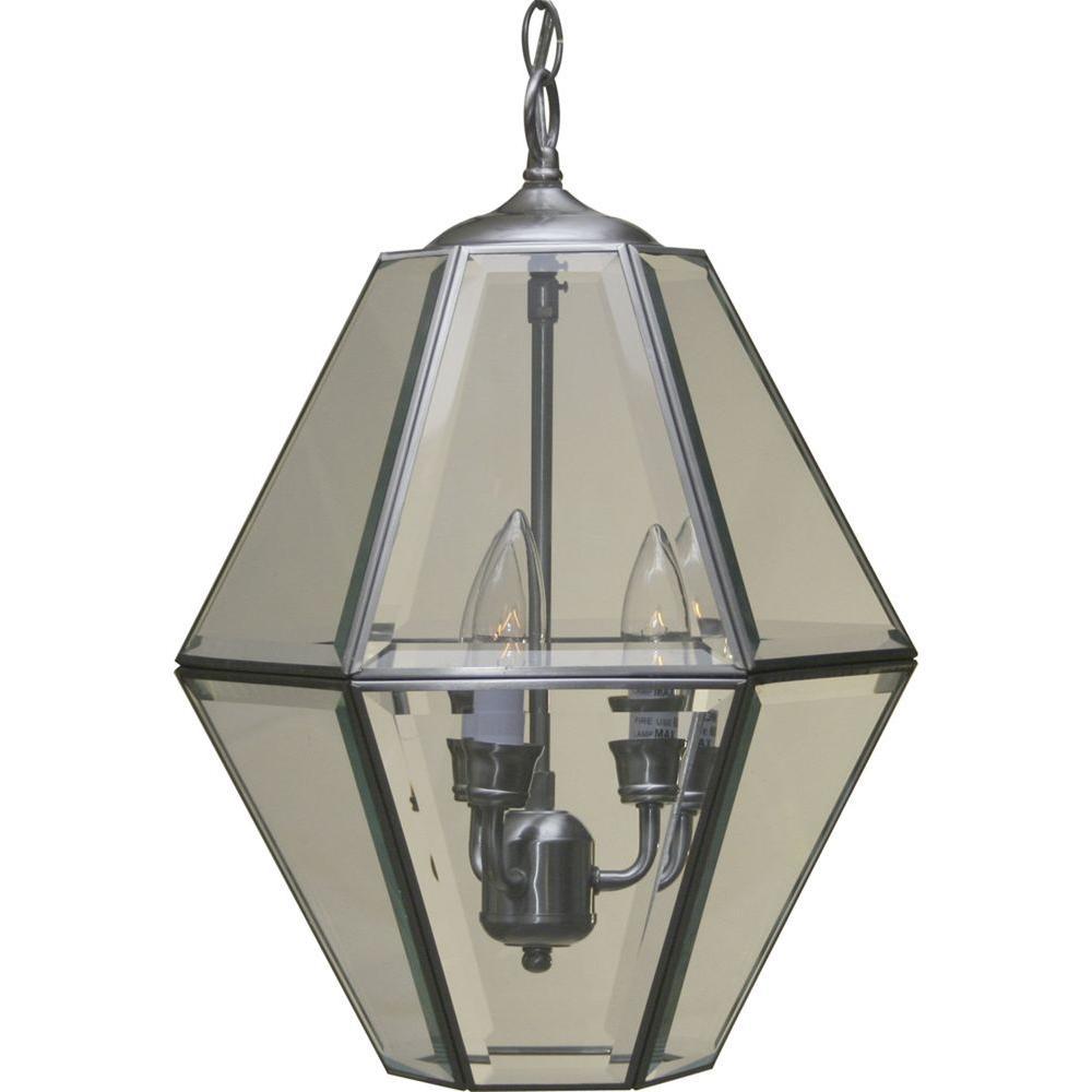 3-Light Brushed Nickel Interior Pendant