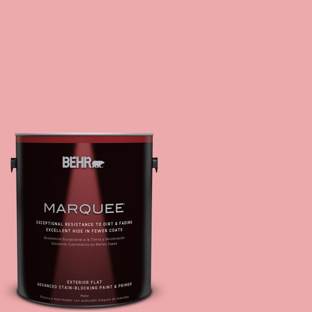 BEHR MARQUEE 1-gal. #140C-3 Hibiscus Petal Flat Exterior Paint