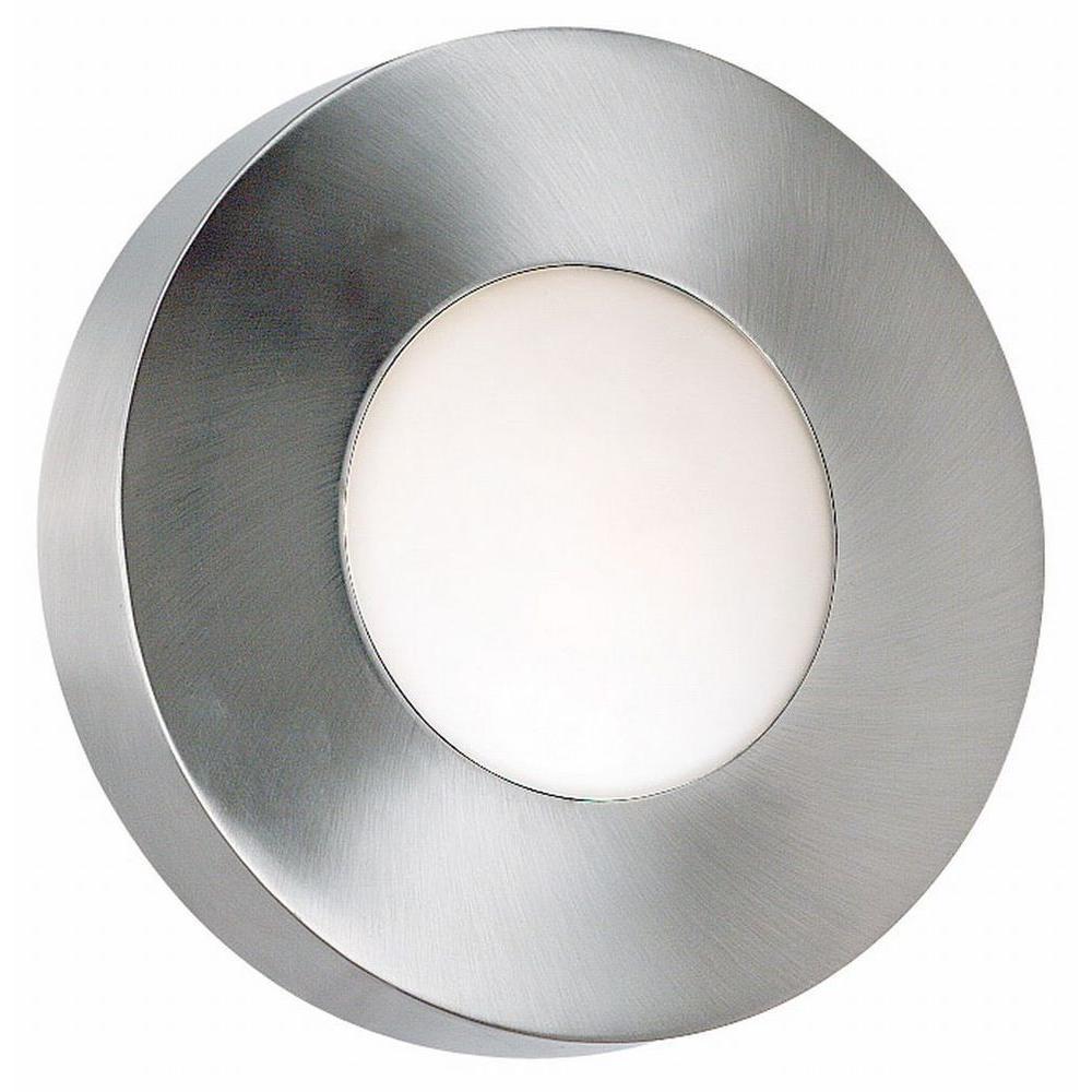 Burst Large 1-Light Polished Aluminum Round Sconce/Flushmount