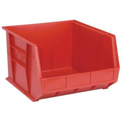 Ultra Series Stack and Hang 8.5 Gal. Storage Bin in Red (3-Pack)