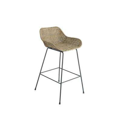 Ormond 35 in. Natural Rattan Counter Stool