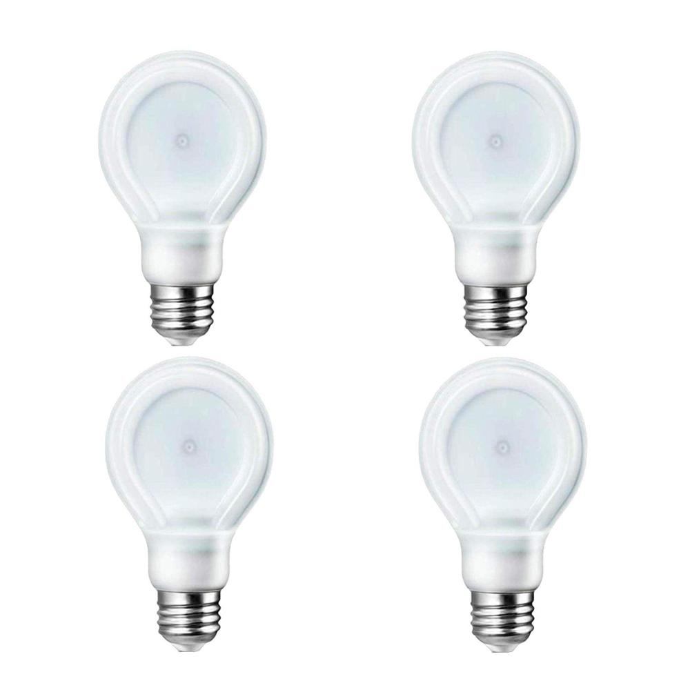 Philips 40-Watt Equivalent A19 Dimmable LED SlimStyle Light Bulb Soft White (2700K) (4-Pack)
