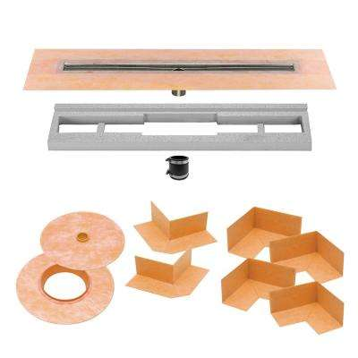 Kerdi-Line 31-1/2 in. Stainless Steel Channel Body