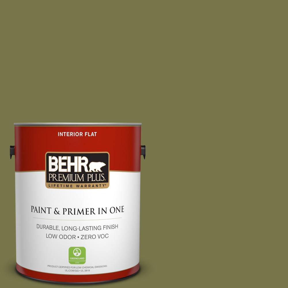 BEHR Premium Plus 1-gal. #S340-7 Tree Hugger Flat Interior Paint