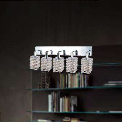 Glitz 5-Light Chrome Sconce