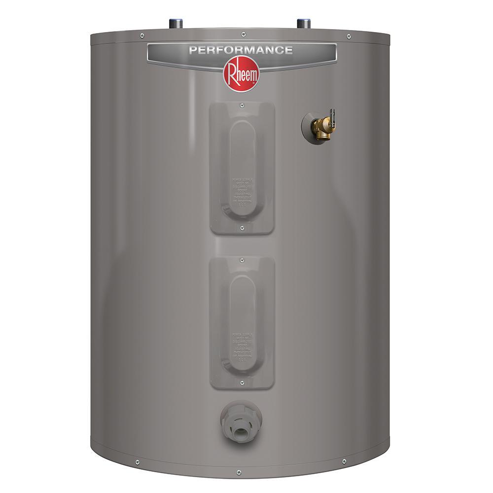 Rheem Performance 30 Gal. Short 6 Year 3800/3800-Watt Elements Electric Tank Water Heater