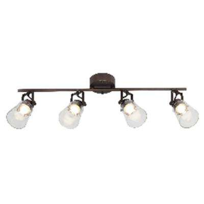 2.5 ft. 4-Light Oil Rubbed Bronze Integrated LED Track Lighting Kit