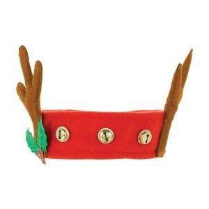 Reindeer Antlers With Bells Headband Christmas Dress Up One Size