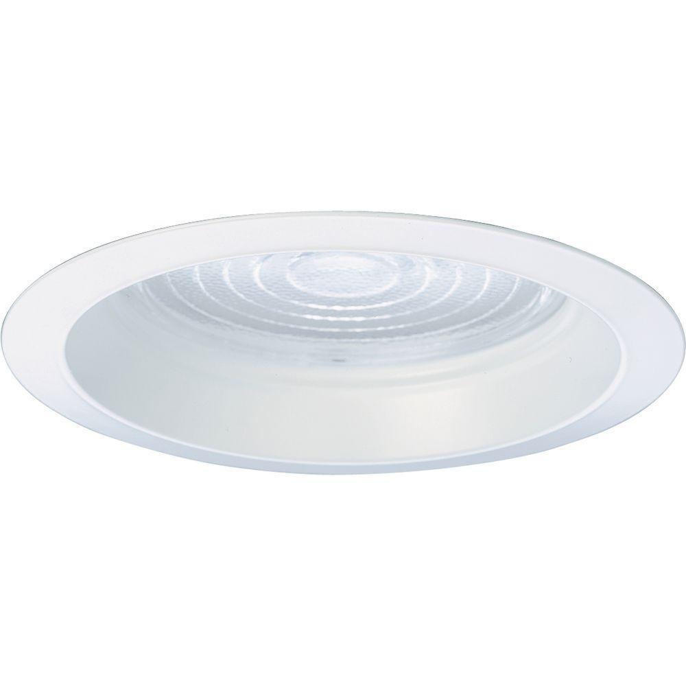 Progress Lighting 8 in. Pro-Optic White Recessed Fresnel Lens Trim