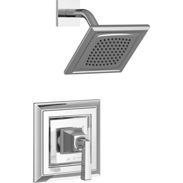 Town Square S Shower Faucet Trim Kit for Flash Rough-in Valves in Polished Chrome (Valve Not Included)