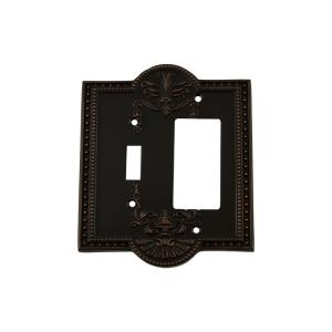 Nostalgic Warehouse Meadows Switch Plate with Toggle and Rocker in Timeless... by Nostalgic Warehouse