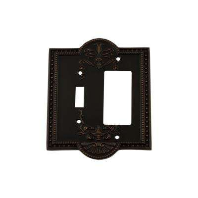Meadows Switch Plate with Toggle and Rocker in Timeless Bronze