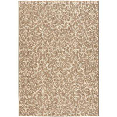 Bermuda Taupe/Champagne 4 ft. x 5 ft. Area Rug