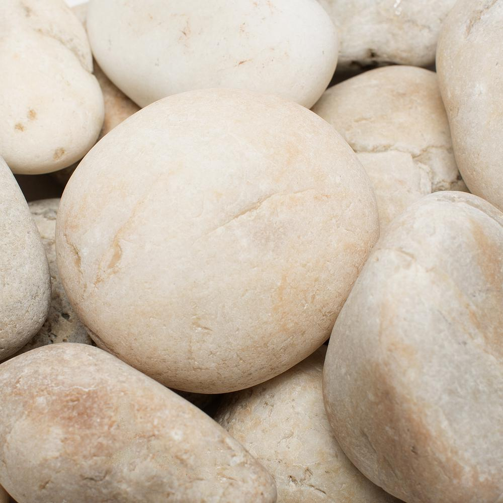Rain Forest 2 in. to 3 in., 2200 lb. Large Golden Sapphire Pebbles Super Sack