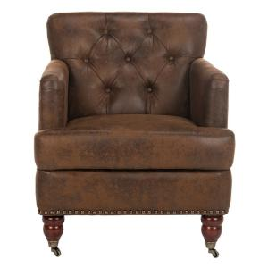 Colin Distressed Brown Leather Arm Chair
