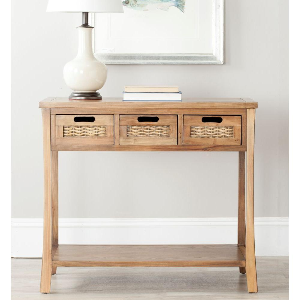 Safavieh Autumn Distressed Black Storage Console Table
