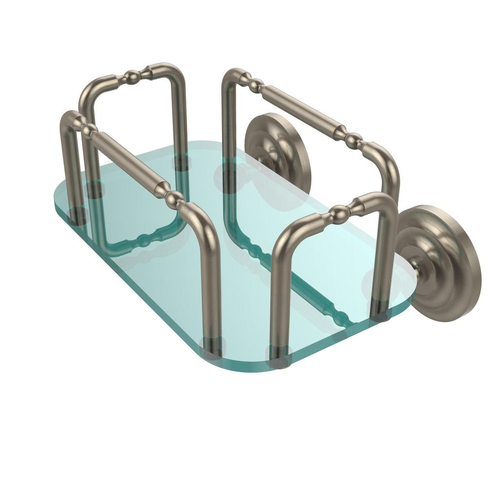 Allied Brass Que New Wall Mounted Guest Towel Holder in Antique Pewter