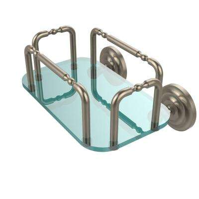 Que New Wall Mounted Guest Towel Holder in Antique Pewter