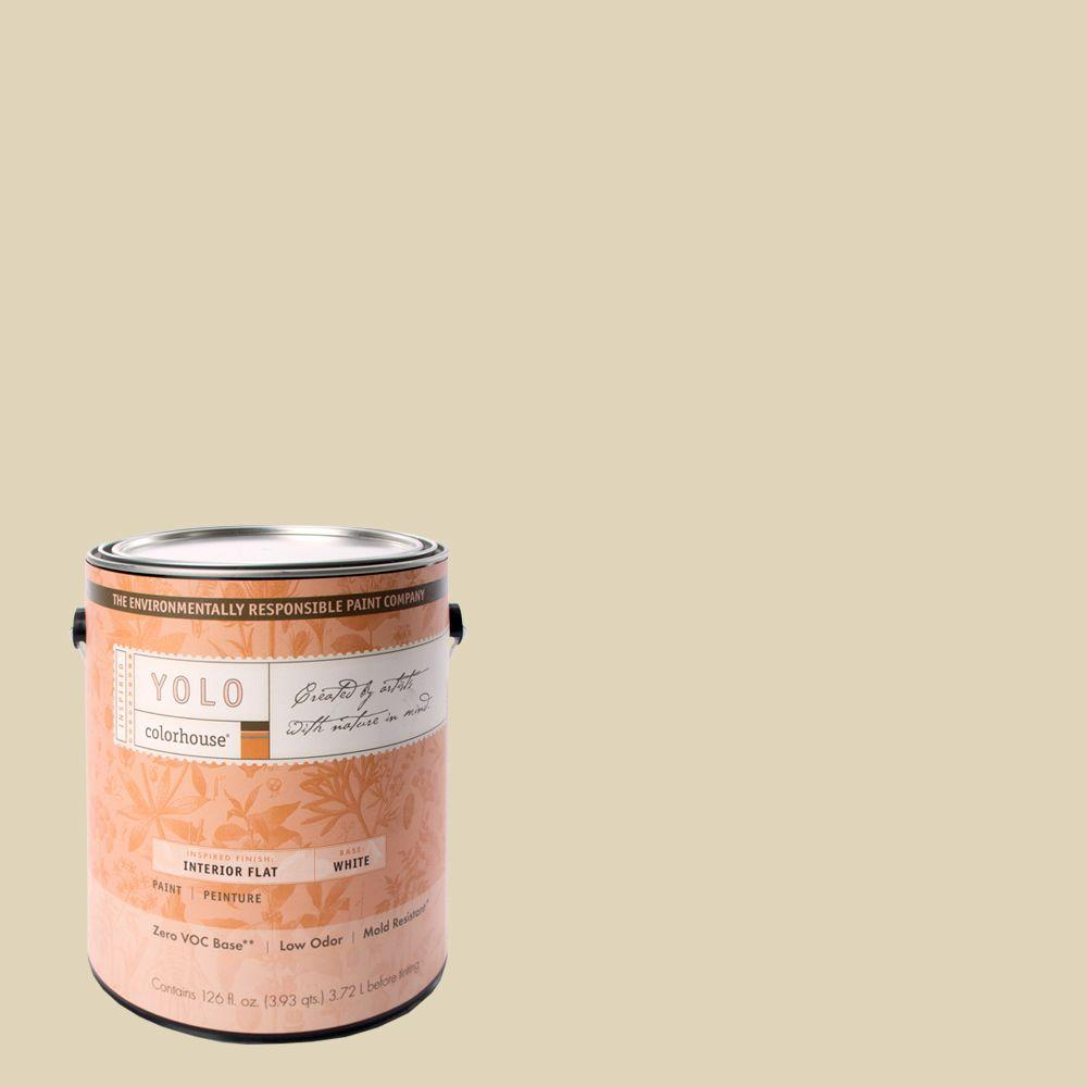 YOLO Colorhouse 1-gal. Stone .01 Flat Interior Paint-DISCONTINUED