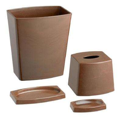My Earth 4-Piece Bath Accessory Set in Brown
