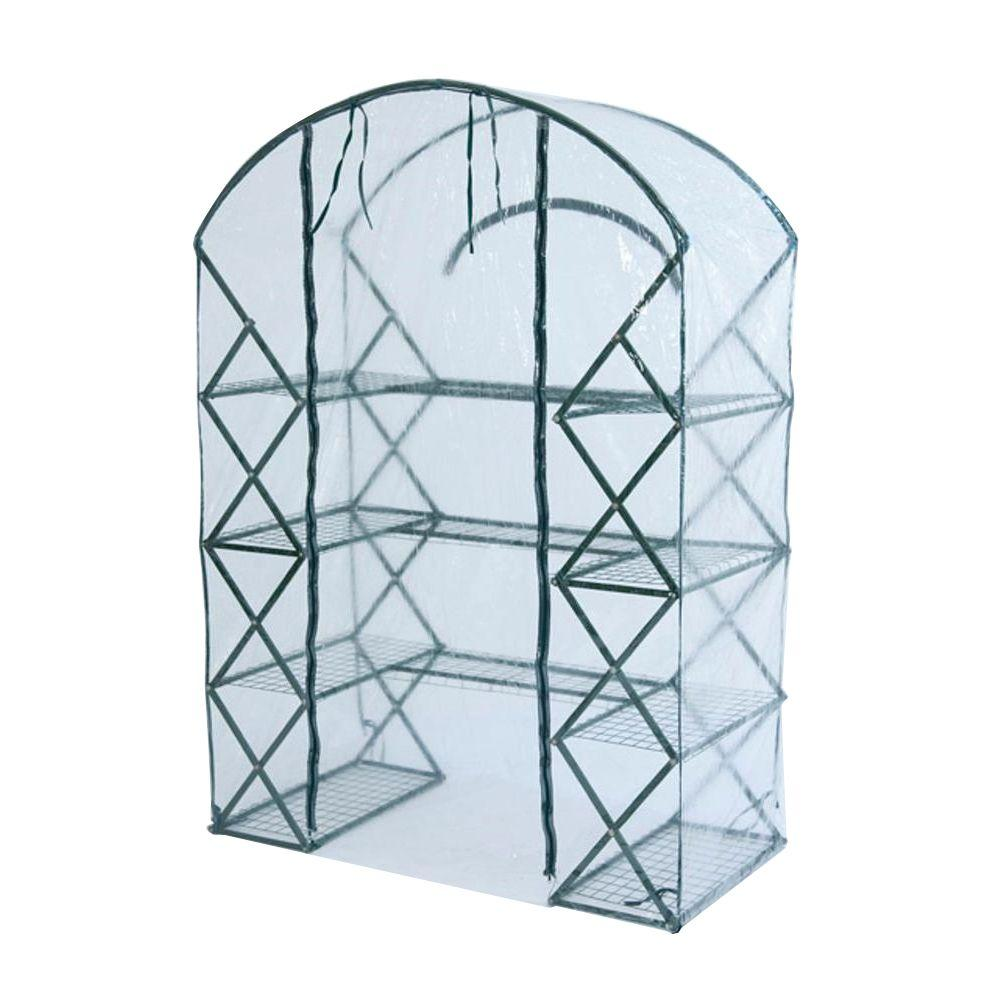 FlowerHouse 6 ft. 5 in. H x 4 ft. 5 in. W x 2 ft. 5 in. D Clear Cover for Harvest House Plus