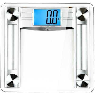 Ozeri ProMax 500 lbs. (230 kg) Digital Bath Scale, with Body Tape Measure and Fat Caliper, Clear