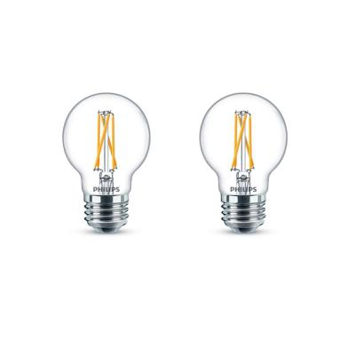 40-Watt Equivalent G16.5 Dimmable Medium Base LED Light Bulb with Warm Glow Dimming Effect Soft White (2-Pack)