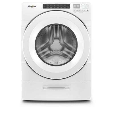 4.5 cu. ft. High Efficiency White Front Load Washing Machine with Steam and Load and Go Dispenser