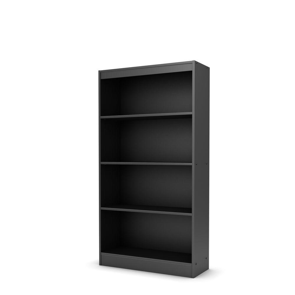 South Shore Axess 4 Shelf Bookcase In Pure Black