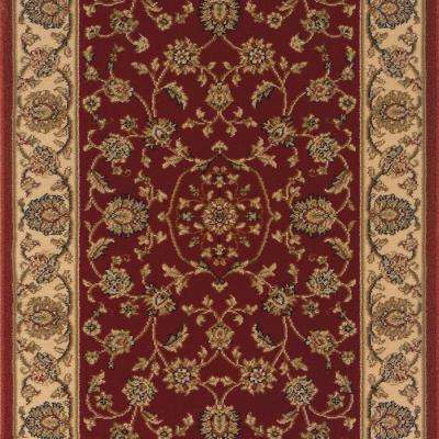 Kurdamir Rockland Crimson 33 in. x Your Choice Length Stair Runner
