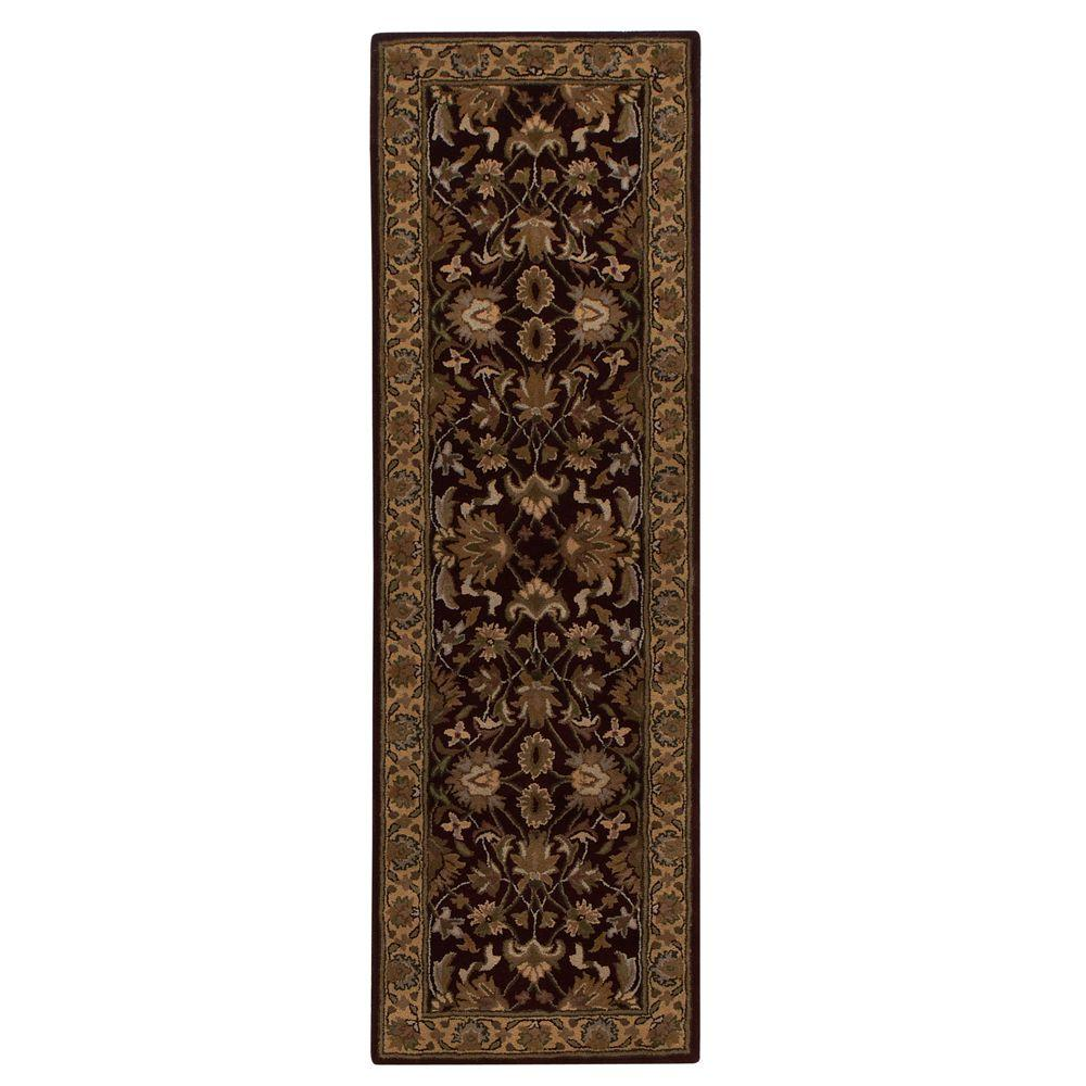 Home Decorators Collection Constantine Burgundy 2 ft. 3 in. x 11 ft. 6 in. Runner