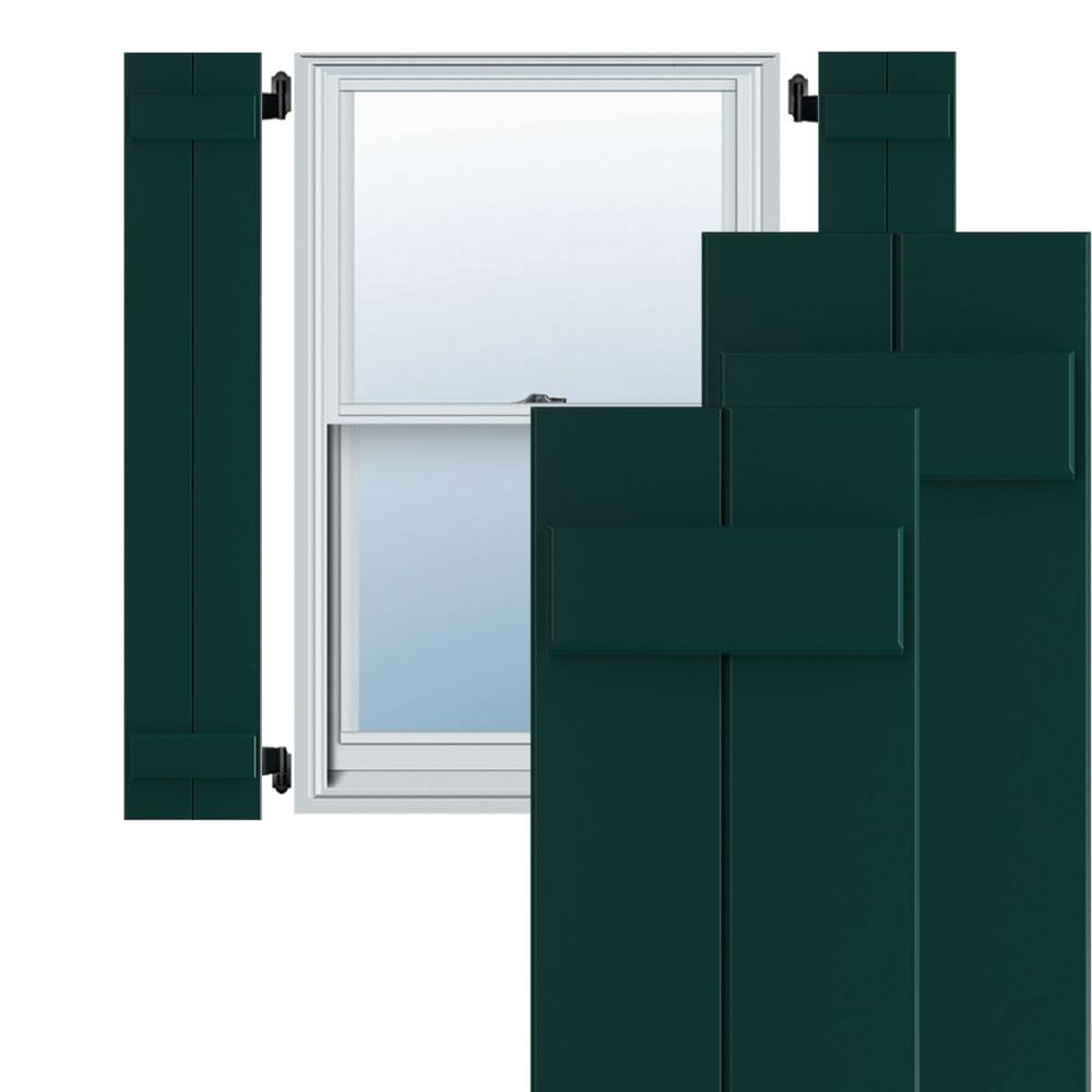 Reviews For Ekena Millwork 10 3 4 X 28 True Fit Pvc Two Board Joined Board N Batten Shutters Thermal Green Per Pair 1572010 The Home Depot