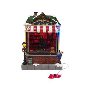 Home Accents Holiday 9 5 In Animated Toy Shop Nm X14211aa