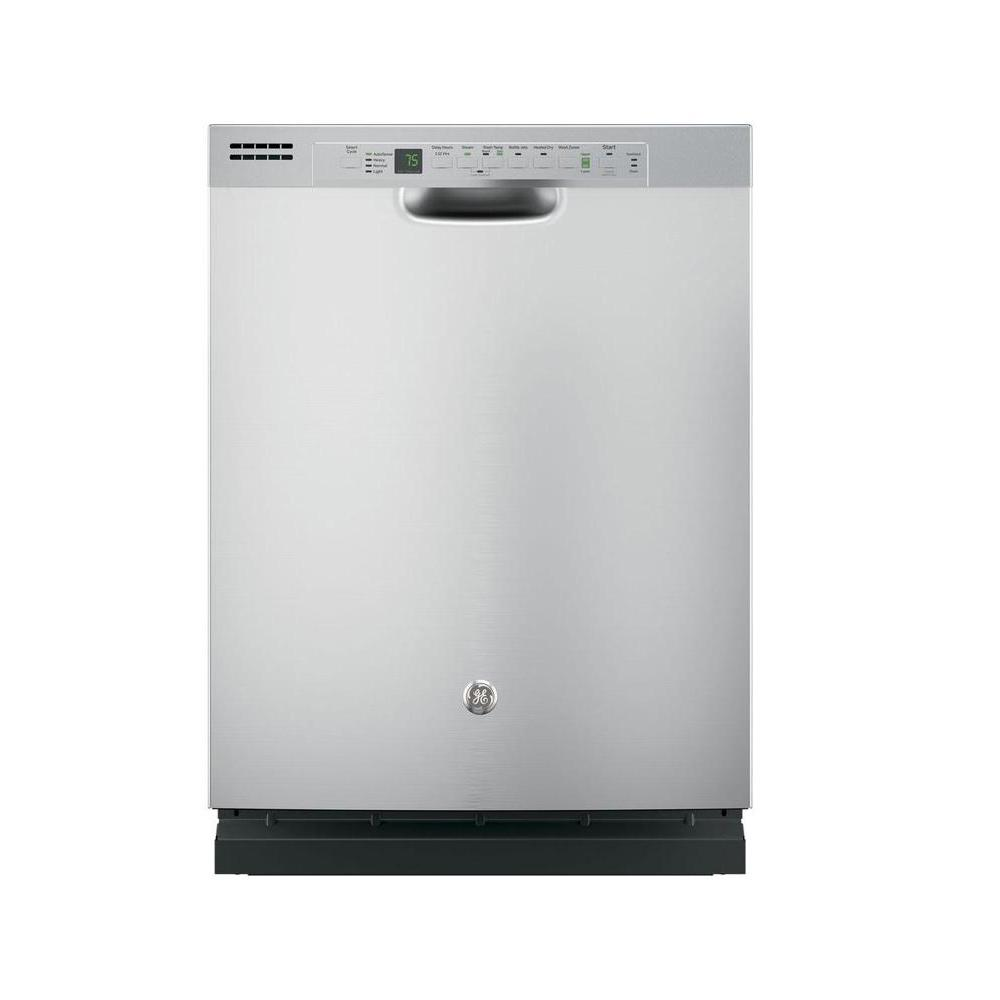 GE Front Control Dishwasher in Stainless Steel (Silver) w...