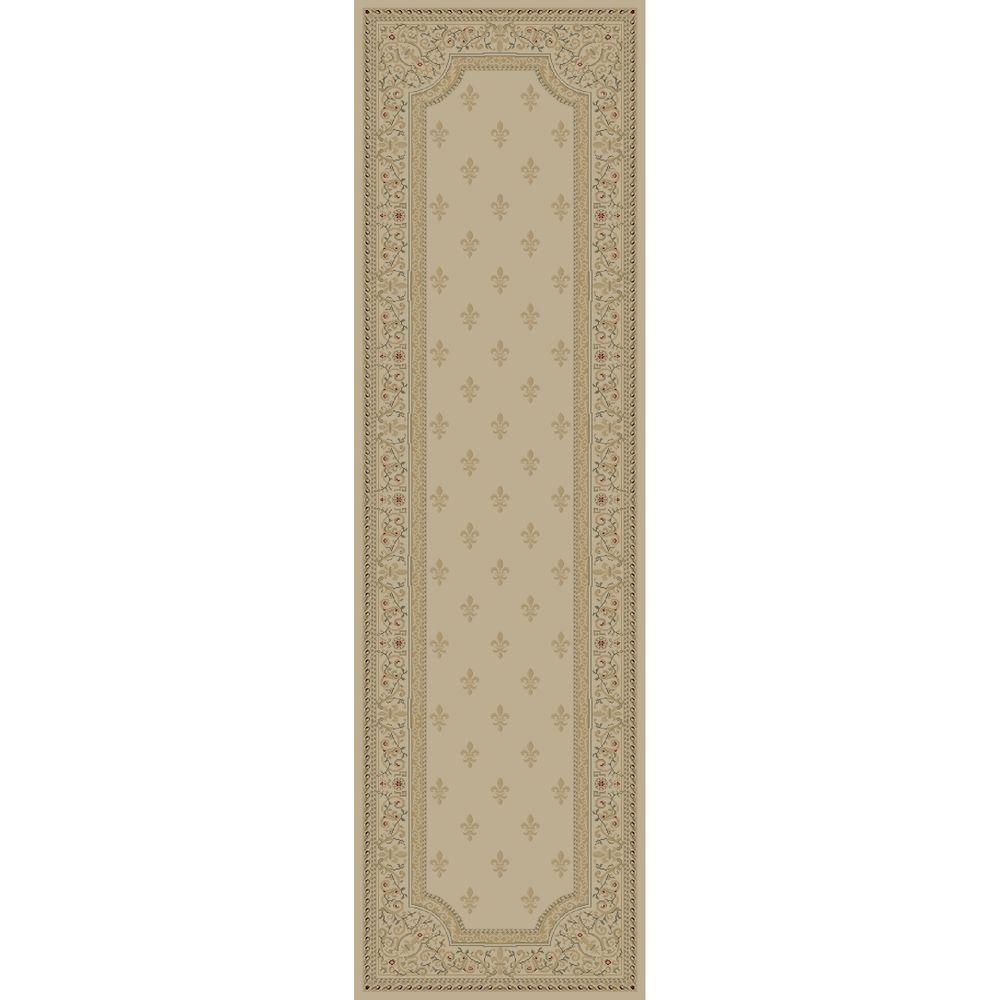 Imperial Fleur De Lys Ivory 2 ft. 3 in. x 7