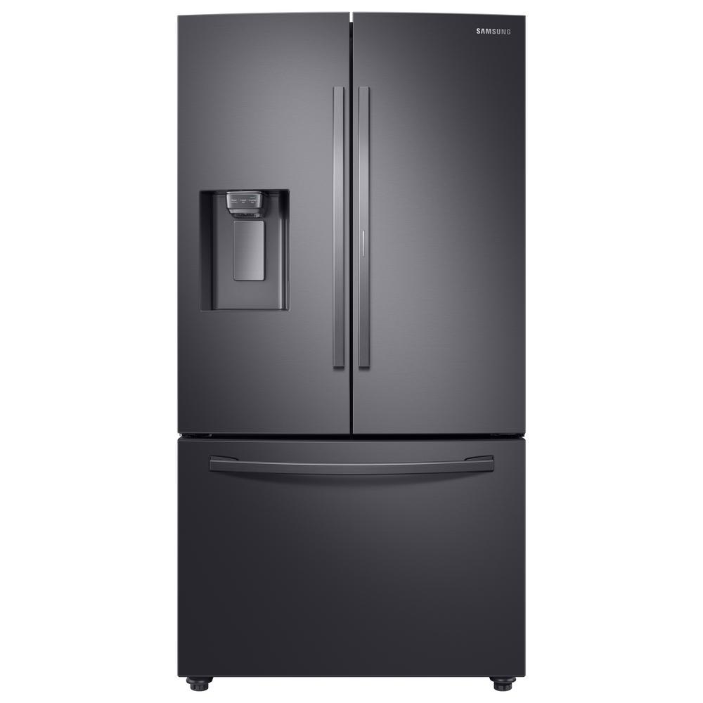 Samsung 28 cu. ft. 3-Door French Door Refrigerator in Black Stainless Steel with Food Showcase Door