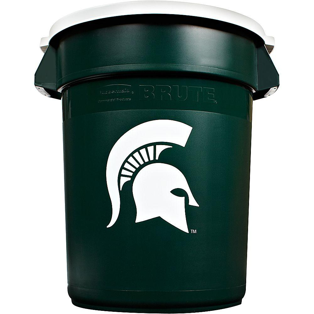 Rubbermaid Commercial Products BRUTE NCAA 32 Gal. Michigan State Round Trash Can with Lid