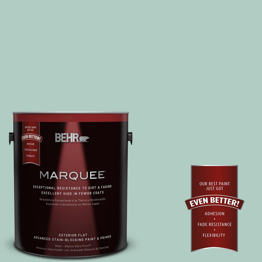 1-gal. #M430-3 Wintergreen Dream Flat Exterior Paint